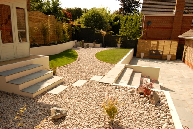 purley on thames contemporary terraced garden dream gardens